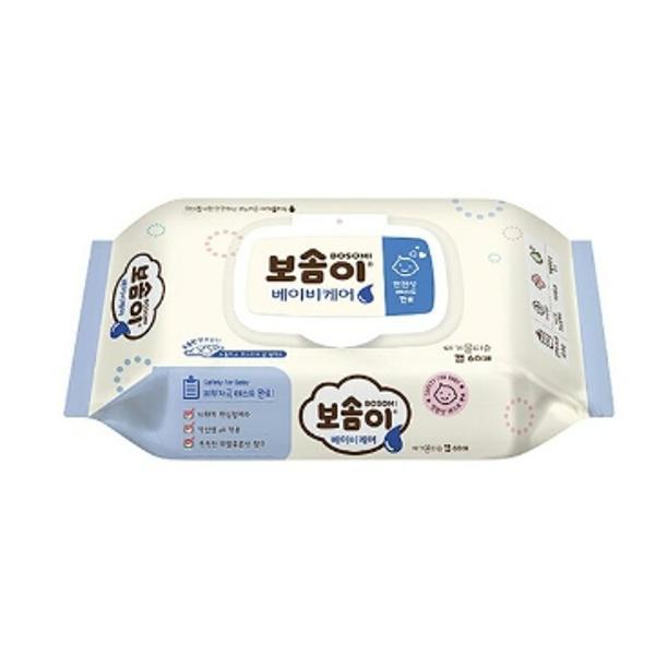 ⓢ깨끗한나라 보솜이 아기용 물티슈 60매(캡형)