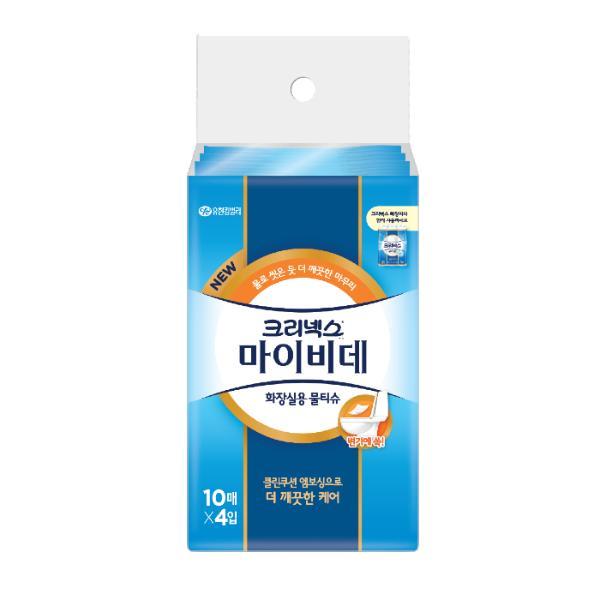 ⓢ크리넥스 마이비데(1팩/10매*4개)