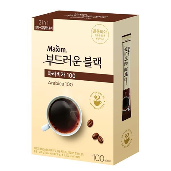 맥심 아라비카 부드러운 블랙믹스(2.8g*100T/동서식품)