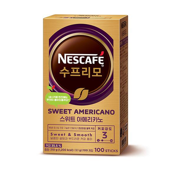 네스카페 수프리모 스위트 아메리카노(3.1g*100T/네슬레)