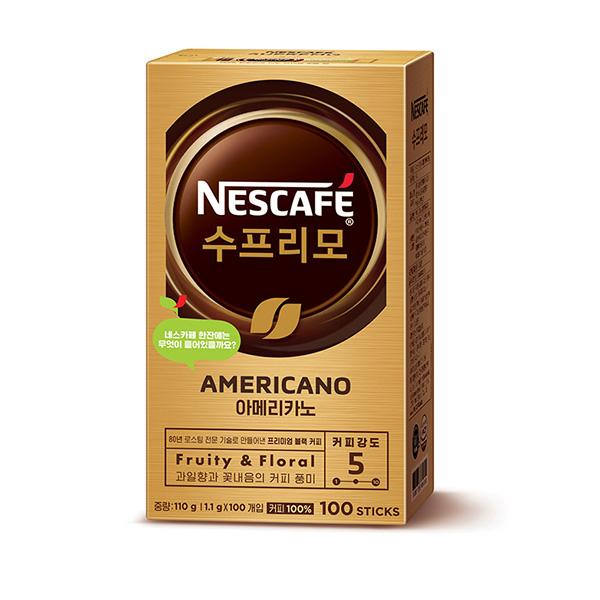 네스카페 수프리모 아메리카노(1.1g*100T/네슬레)