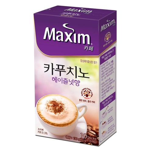 맥심카페 카푸치노 헤이즐넛향(13g*10T/동서식품)